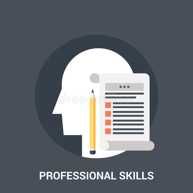 Het concept van het beroepsbekwaamhedenpictogram vector illustratie