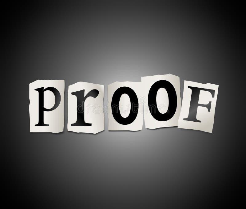 Het concept van het bewijs. stock illustratie