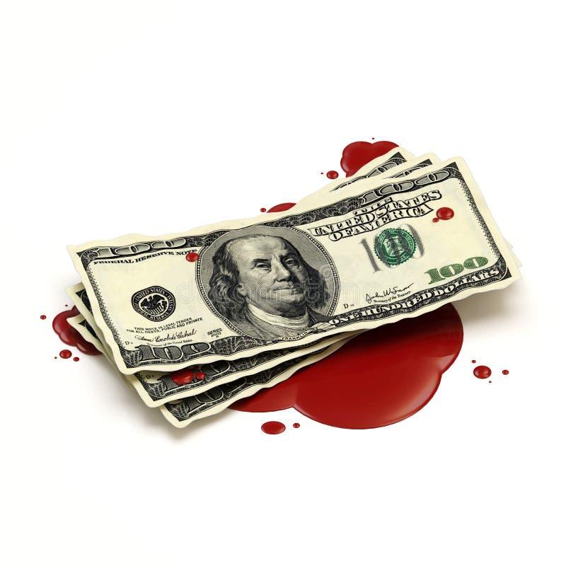 Het Concept van het bloedgeld royalty-vrije illustratie