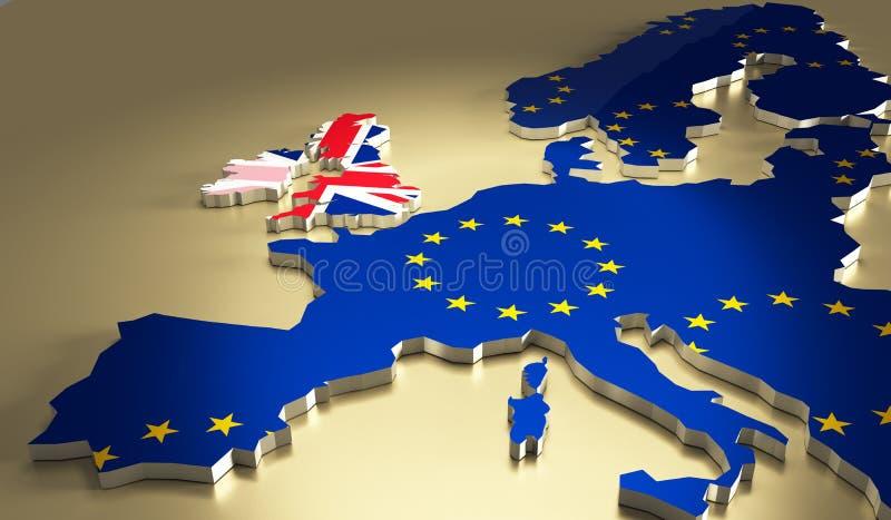 Het concept van het Brexitreferendum vector illustratie