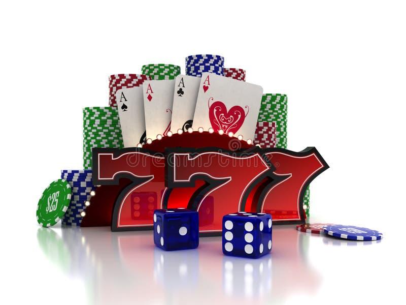 Het Concept van het casino stock illustratie