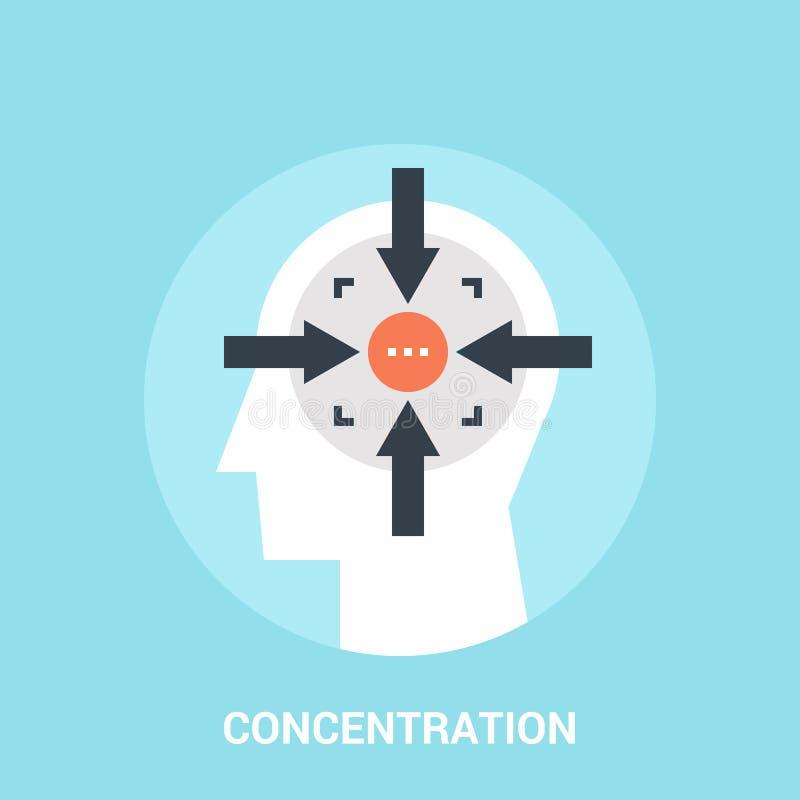 Het concept van het concentratiepictogram royalty-vrije illustratie
