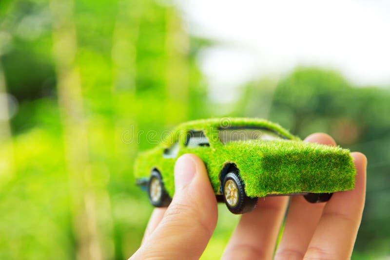 Het concept van het de autopictogram van Eco stock afbeelding