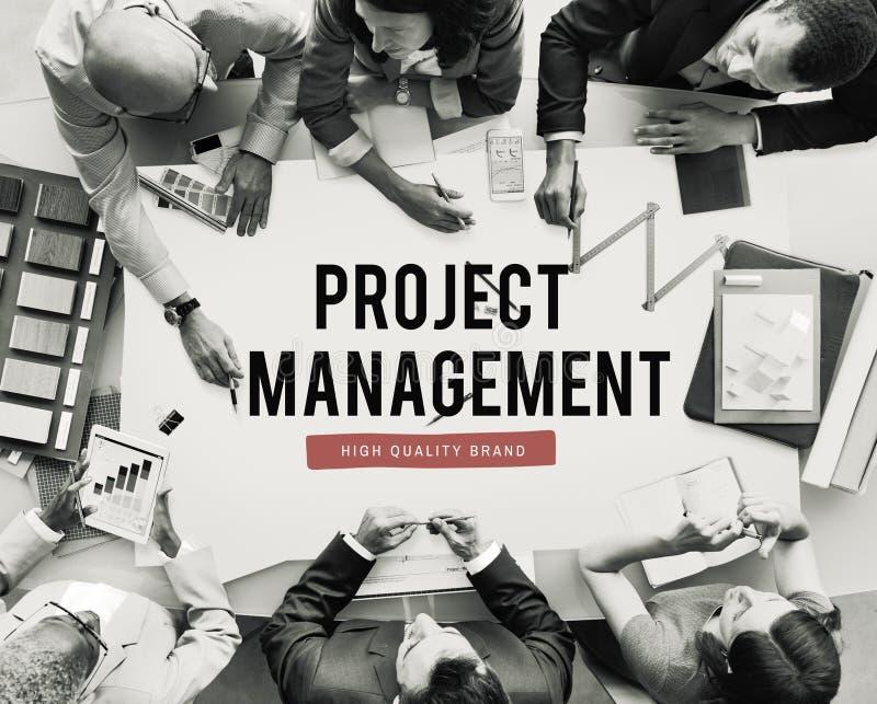 Het Concept van het de Bedrijfseconomieplan van de projectvooruitgang stock afbeelding