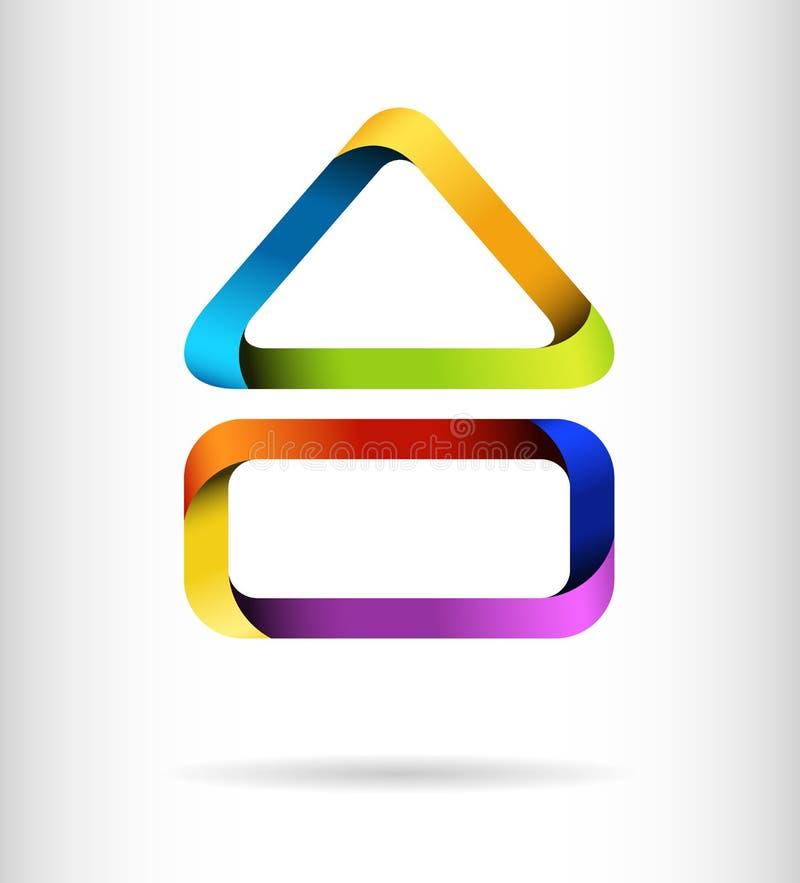 Het concept van het de bouwontwerp van de regenboog royalty-vrije illustratie