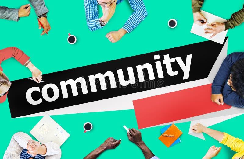 Het Concept van het de Groepsnetwerk van de communautaire Burgerverbinding royalty-vrije stock afbeeldingen