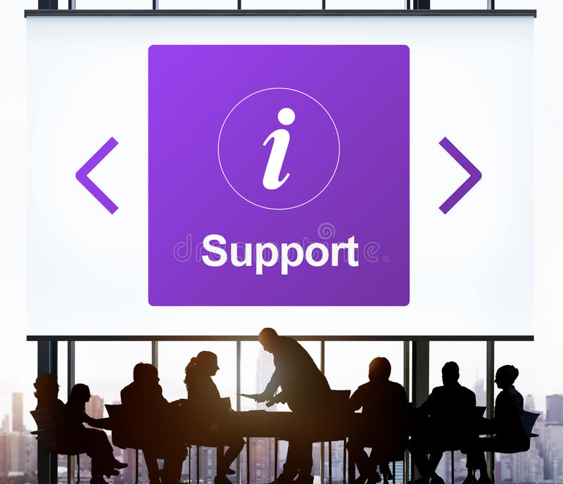 Het Concept van het de Informatiepictogram van de klantendienst stock foto's