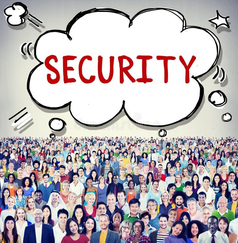 Het Concept van het de Privacybeleid van de veiligheidsgegevensbescherming stock afbeelding