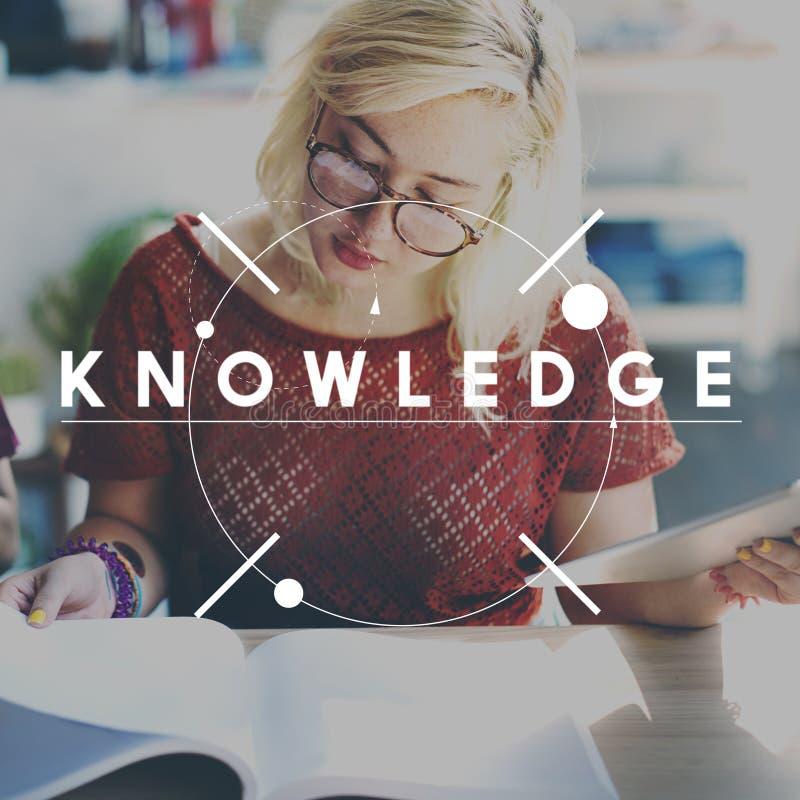 Het Concept van het de Studieonderwijs van de kennisintelligentie stock foto's