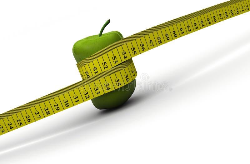 Het concept van het dieet vector illustratie