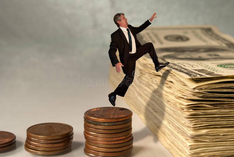 Het concept van het economische en effectenbeurssucces stock afbeeldingen
