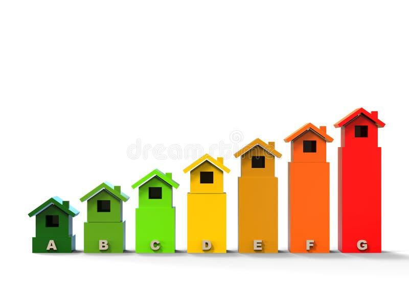 Het concept van het energierendementhuis vector illustratie