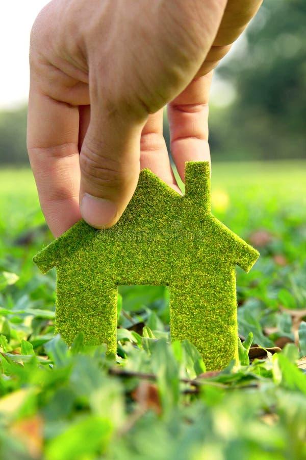 Het concept van het het huispictogram van Eco stock foto