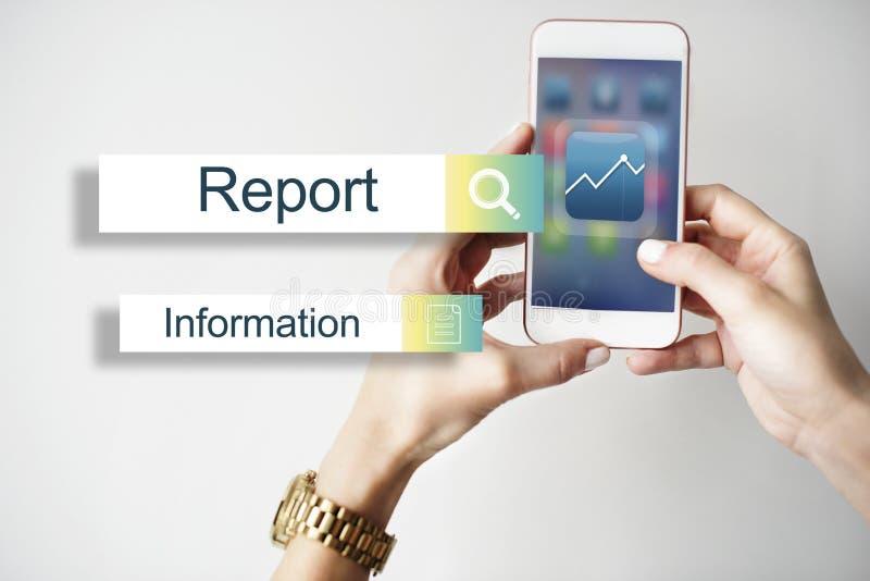 Het Concept van het het Rapportdoel van resultatenstatistieken royalty-vrije stock fotografie