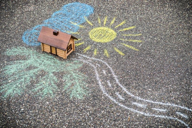 Het concept van het huis stock afbeeldingen