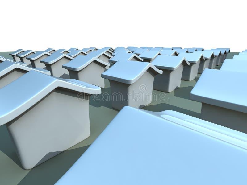 Het concept van het huis en van het bezit stock illustratie