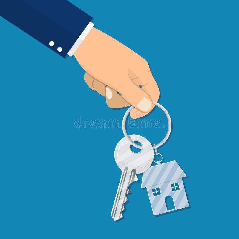 Het concept van het huurhuis vector illustratie