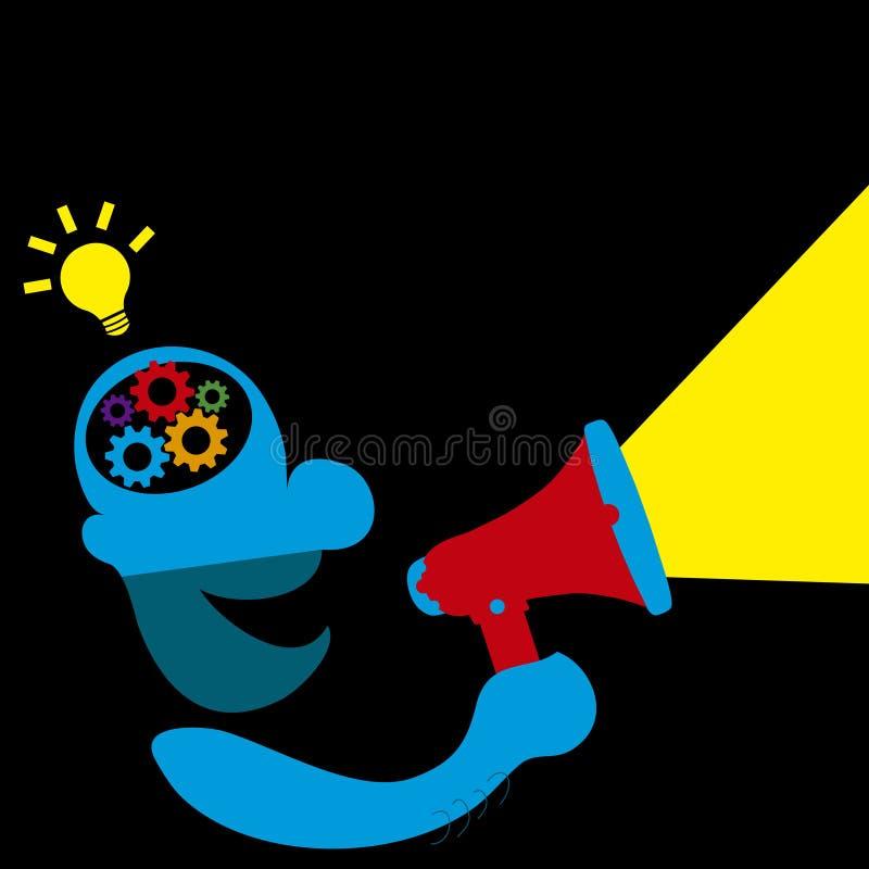 Het concept van het idee vector illustratie
