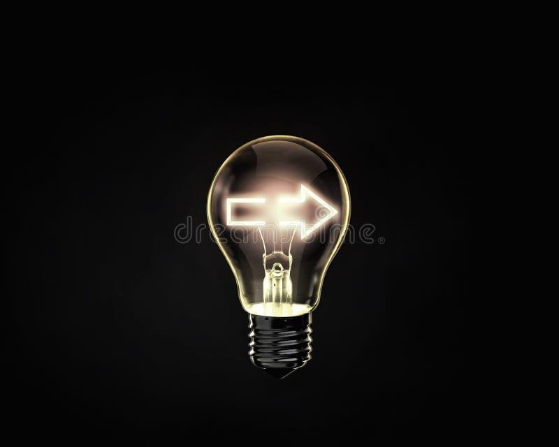Het concept van het idee, vectorillustratie stock afbeelding