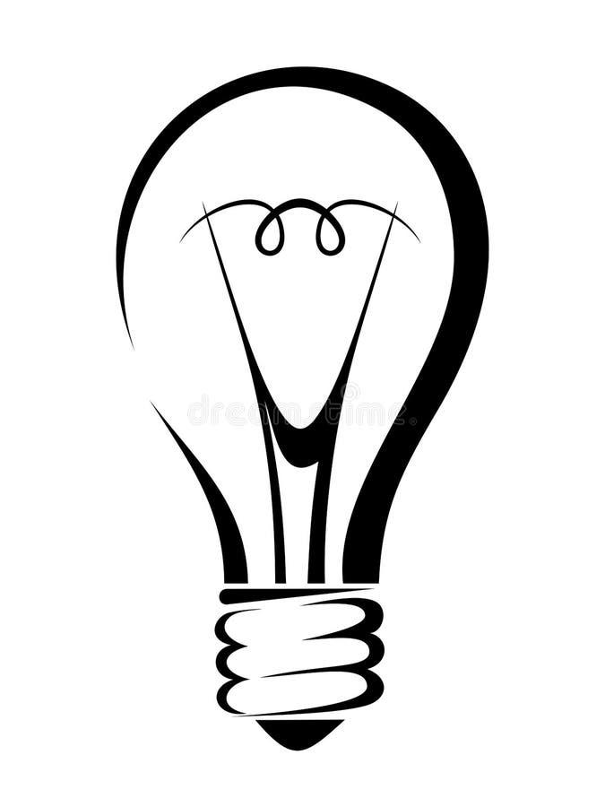 Het concept van het idee, vectorillustratie Vector zwart silhouet stock illustratie