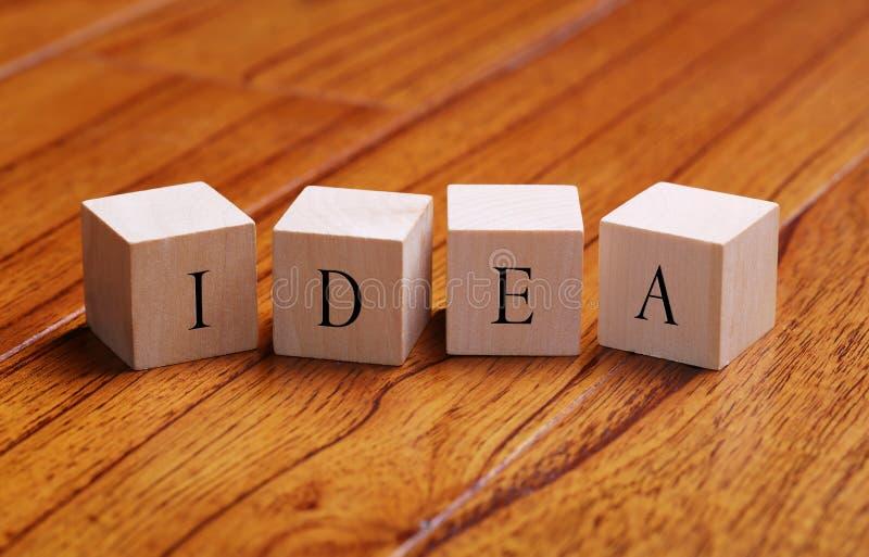 Het concept van het ideewoord royalty-vrije stock afbeelding