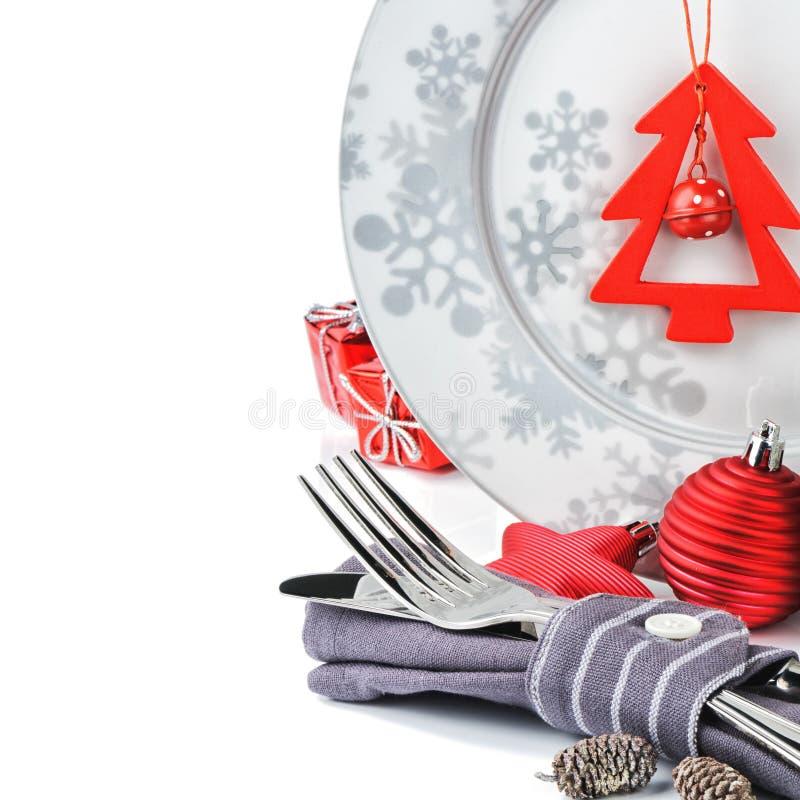 Het concept van het Kerstmismenu royalty-vrije stock foto's