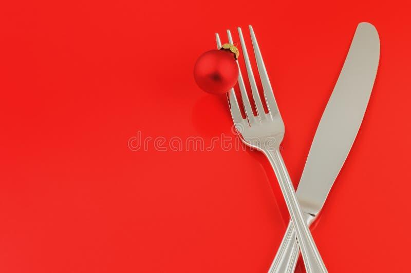 Het concept van het Kerstmismenu stock foto's