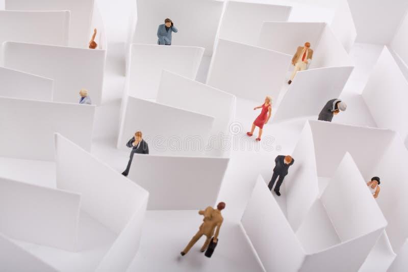 Het Concept van het Labyrint van het bureau stock afbeelding