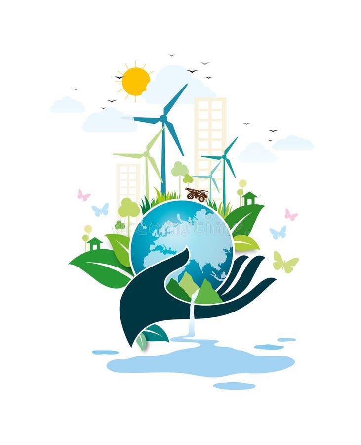 Het concept van het milieu stock illustratie