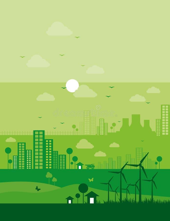 Het concept van het milieu vector illustratie