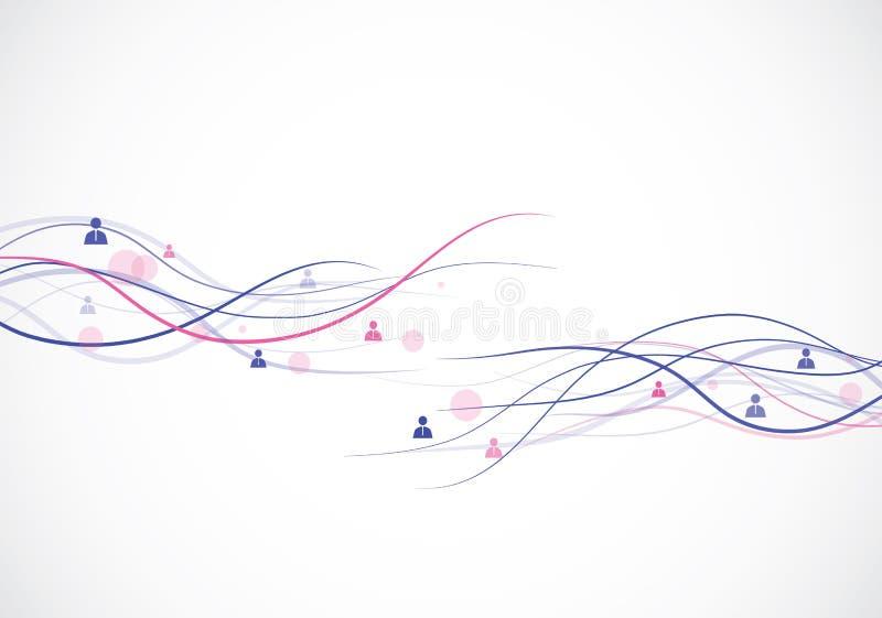 Het concept van het netwerk stock illustratie