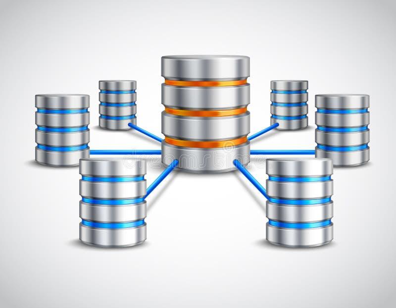 Het concept van het netwerkgegevensbestand stock illustratie