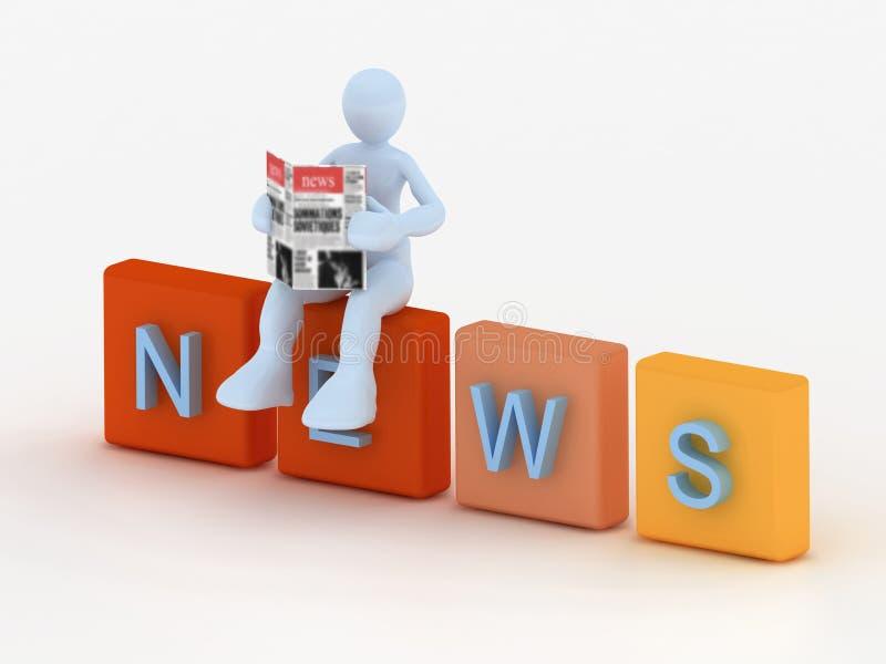 Het concept van het nieuws stock illustratie