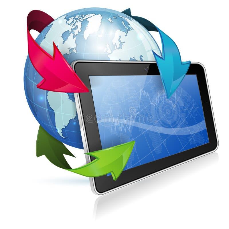 Concept - het Nieuws van Internet stock illustratie