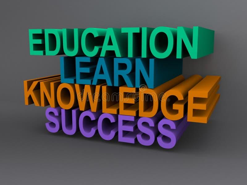 Het concept van het onderwijs stock illustratie