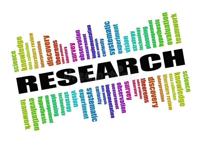Het concept van het onderzoek royalty-vrije illustratie