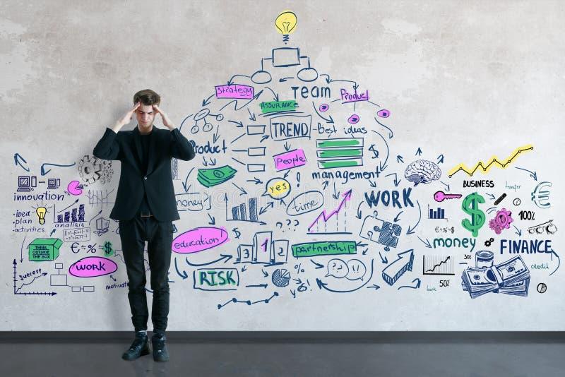 Het concept van het onderzoek stock illustratie