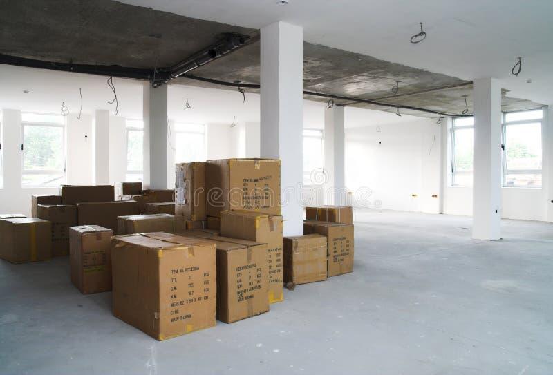 Het concept van het pakhuis - Opslag stock fotografie