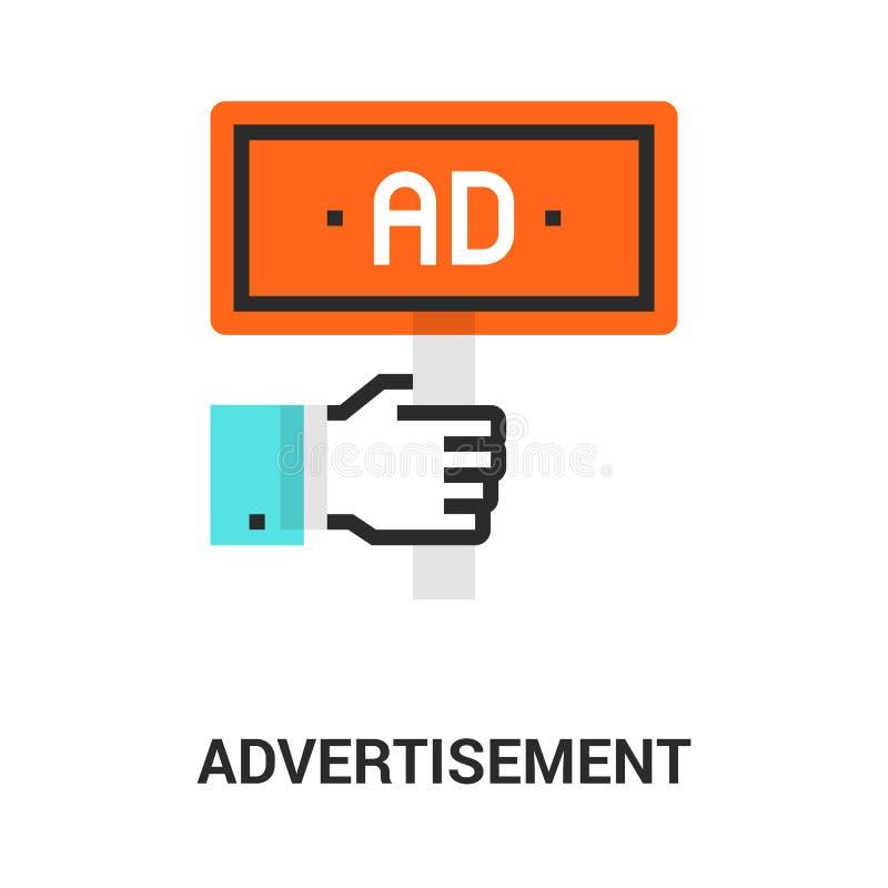 Het concept van het reclamepictogram stock illustratie