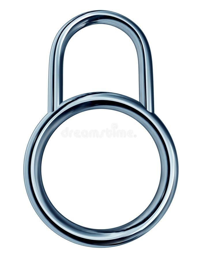 Het Concept van het Slot van de veiligheid royalty-vrije illustratie
