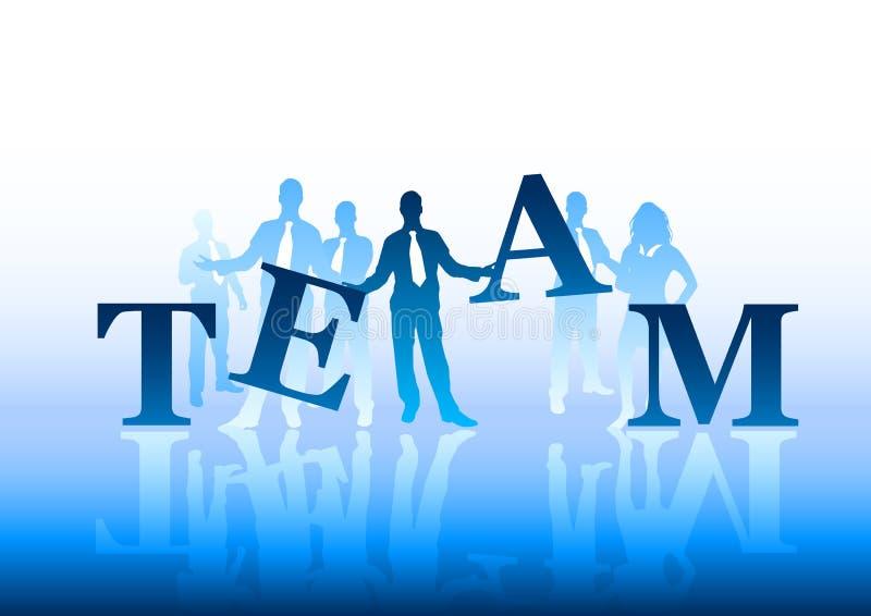 Het Concept van het team royalty-vrije illustratie