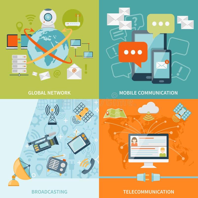 Het Concept van het telecommunicatie2x2 Ontwerp vector illustratie