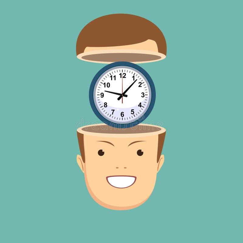 Het Concept van het tijdbeheer vector illustratie