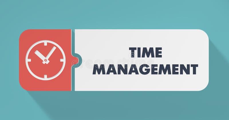 Het Concept van het tijdbeheer in Vlak Ontwerp. vector illustratie