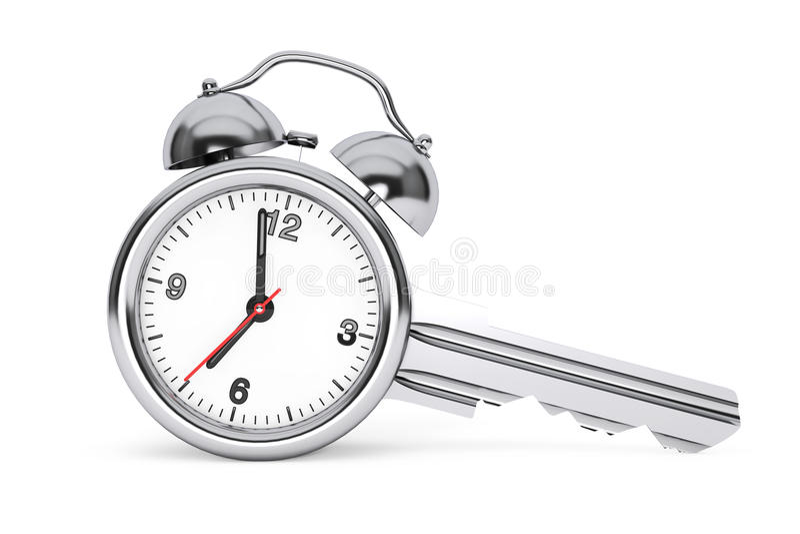Het Concept van het tijdbeheer Wekker zoals Zeer belangrijk het 3d teruggeven stock illustratie