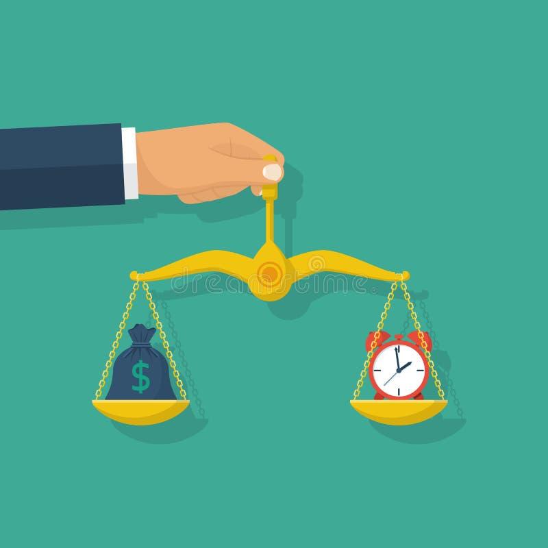 Het concept van het tijdgeld vector illustratie