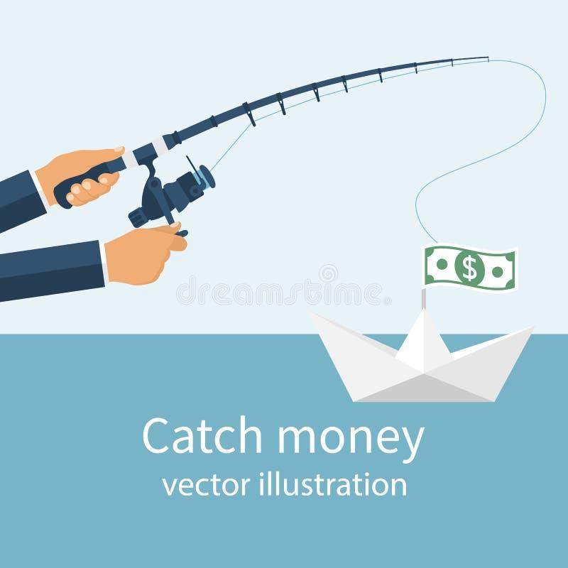 Het concept van het vangstgeld royalty-vrije illustratie