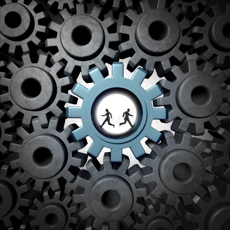 Het Concept van het vennootschapprobleem vector illustratie