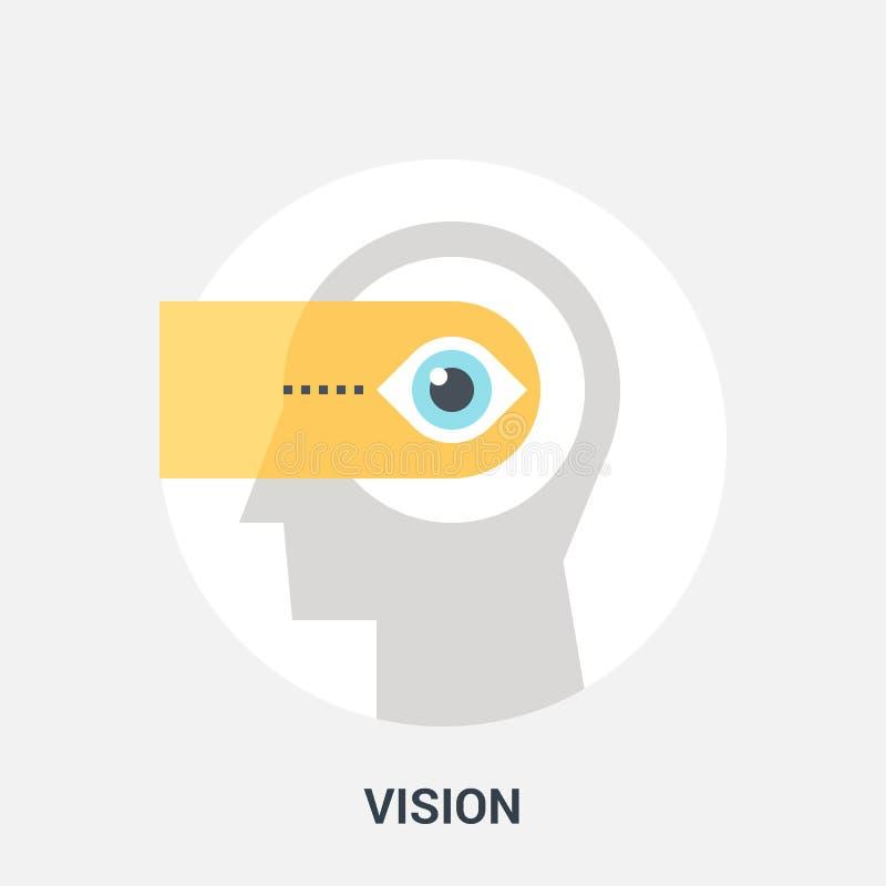 Het concept van het visiepictogram vector illustratie