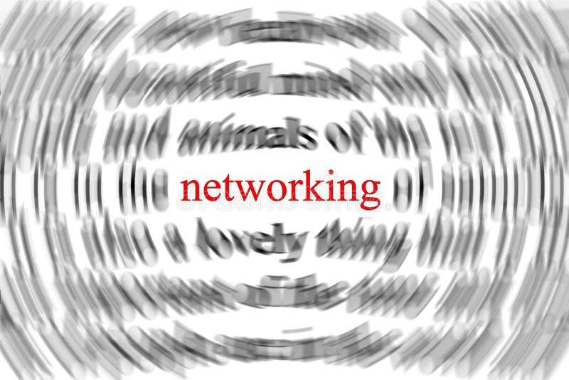 Het concept van het voorzien van een netwerk stock illustratie
